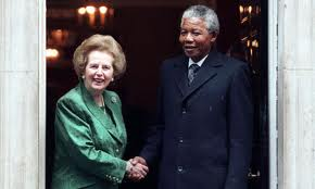 Thatcher and Mandela, 1990. Source: Reuters