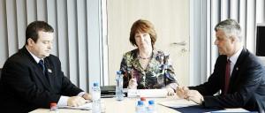 Ivica Dačić, Catherine Ashton and Hashim Thaci  Source: B92 News
