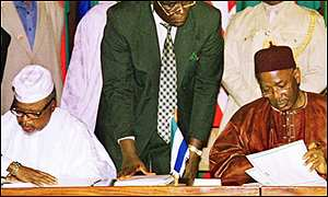 The Lomé Peace Accord - Amnesty in return for a return to peace was promised. Nonetheless, the war continued. (Source: BBC)