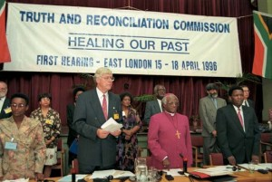 South Africa's Truth and Reconciliation Commission with its Chairman, Desmond Tutu (Source: Britannica)