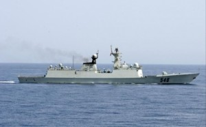 Chinese frigates like this could potentially cause an unpredictable conflict by accident Photo: AFP