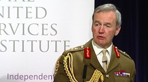 Chief of the Defence Staff, General Sir Nicholas Houghton: '...exquisite equipment, but insufficient resources to man that equipment or train on it.'