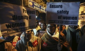 Indian activists protest in New Delhi against sexual violence against women (Image: Photograph Money Sharma,EPA)